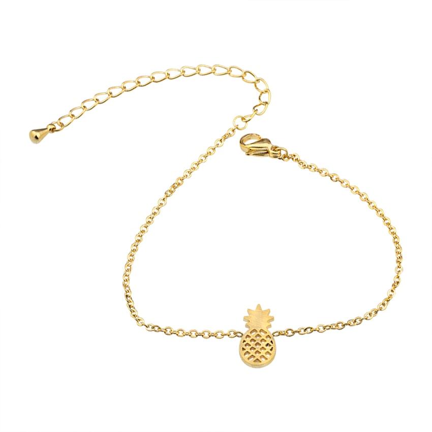 Minimale Ananas Armbänder & Armreifen Edelstahl Armbänder für - Modeschmuck - Foto 3