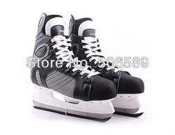 Хоккейные коньки черного цвета #36-#43, бесплатная доставка