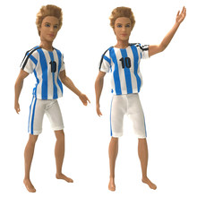 NK Newest Prince Ken Doll Clothes Fashion Football Cub Sportswear Casual Outfit For Barbie Boy Male Ken Doll Best Gift(China)