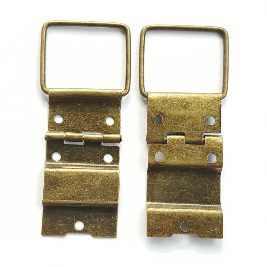 50pcs 22*46mm Antique Hinge Wooden Box Hardware Accessories Metal Hinge Special Jewelry Box Wholesale Even The Wire Hinges 10pcs gold mini butterfly door hinges cabinet drawer jewellery box hinge furniture hinge s diy hardware tools mayitr