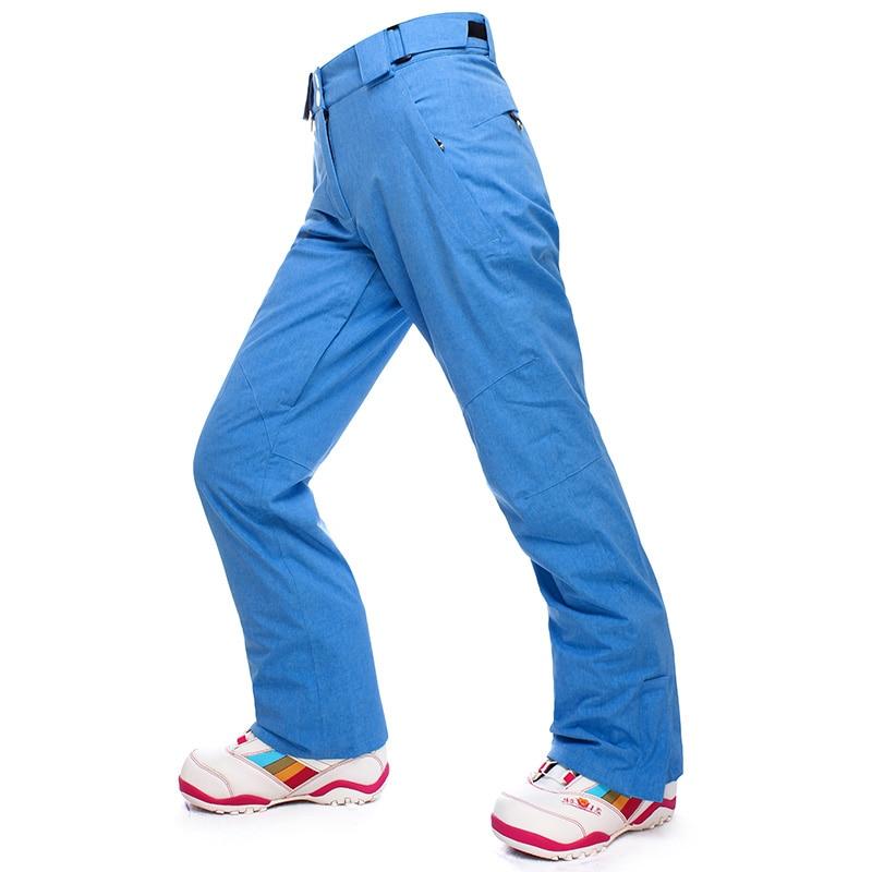SAIGNEMENT Ski Pantalon Femmes Snowboard Pantalon Imperméable Coupe-Vent Thermique D'hiver Ski Pantalon Avec Ceinture Sports de Plein Air Pantalon