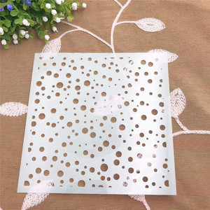 Spotted circle scrapbook stencils spray plastic mold shield DIY cake hollow Embellishment printing lace ruler valentine