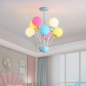 Image 2 - Nordic kolorowe balony wisiorek lampy sufitowe światła dzieci indywidualność lampy wiszące dekoracja pokoju dziecięcego oprawa oświetleniowa