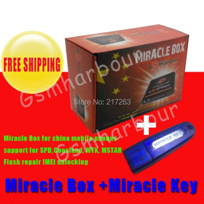 imágenes para Venta caliente Original caja + Milagro Milagro clave con cables (1.88 actualización caliente) para teléfonos móviles de china Desbloquear + reparación de desbloqueo