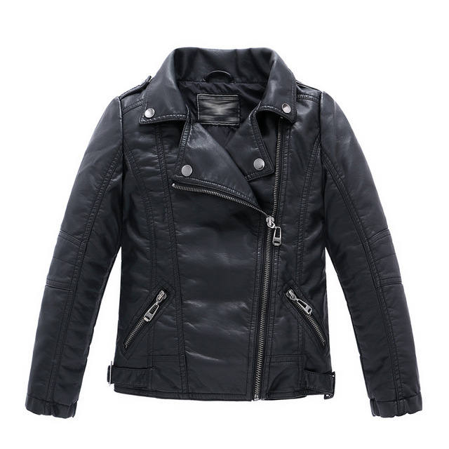 916c2b5ff Spring Autumn Children Girls Leather Motorcycle Jackets PU Leather ...