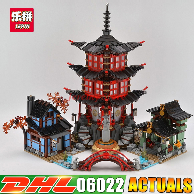 2018 DHL LEPIN 06022 2150Pcs Ninja Temple of Airjitzu Jay Kai Cole Building Block Compatible 70751 Bricks Toys Gifts compatible ninja 70751 lepin 06022 2150pcs blocks ninja figure temple of airjitzu toys for children building bricks 70603 gifts
