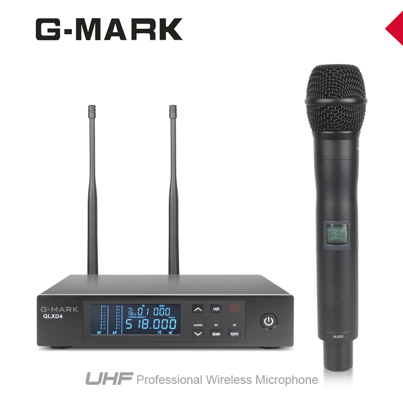 G MARK Wireless Microphone System handheld mic Dual signal reception 200 meter Receiving Distance QLXD4 2