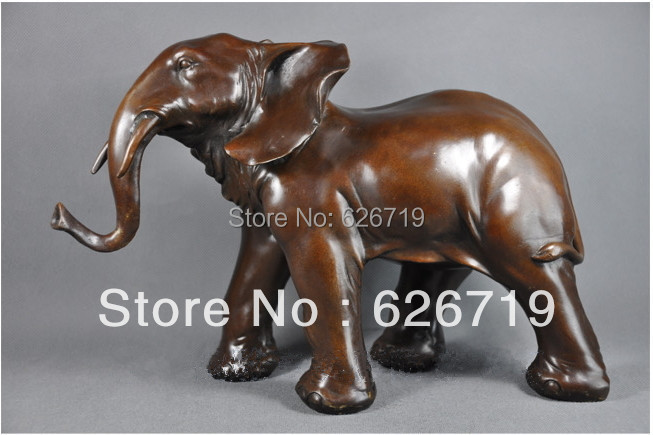 Modern High Quality Antiques Bronze Decorative sculptures Elephant Statue Collectible Figurines For Decoration