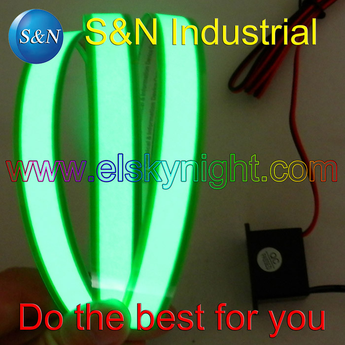 12VDC Green 1X100CM El Tape El Wire El Strip For Car,house,party,dispaly,holiday,fest And Model Decoration Free Shipping