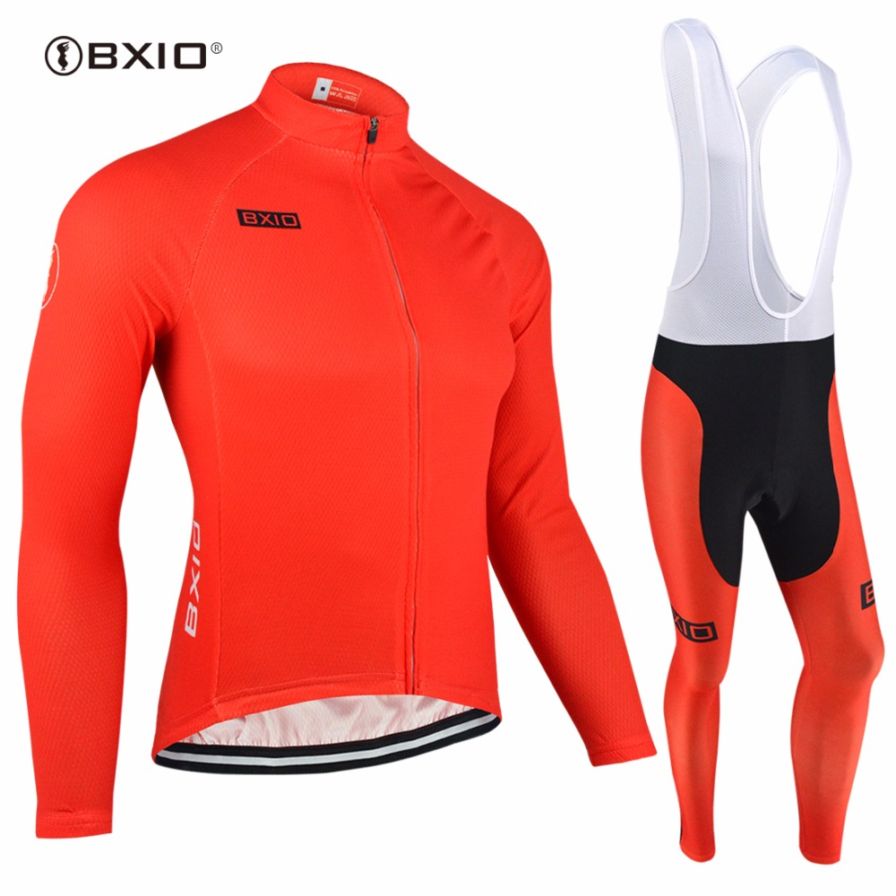 BXIO Invierno Maillot Ciclismo Hombres Red Winter Cycling Sets Thermal Fleece Bike Clothing Long Pro Warm Bicycle Clothes 088 kiditokt keep warm long sleeve pro cycling jerseys set thermal mtb bicycle clothing maillot ciclismo invierno bike clothes 2017