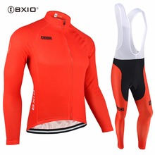 BXIO Invierno Maillot Ciclismo Hombres Red Winter Cycling Sets Thermal Fleece Bike Clothing Long Pro Warm Bicycle Clothes 088
