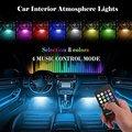 Music voice Remote Control Car RGB LED Neon Interior Light Car RGB Lamp Strip Decorative Atmosphere Lights Car Styling