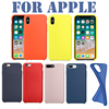 Have LOGO Original Silicone Case For Apple Phone Cover For iPhone 7 6 6s 8 Plus For iPhone X 10 5 5s Back cover with Retail Box