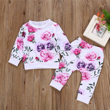 Get more info on the Newborn Infant Baby Girl Clothes Floral T shirt Tops+Pants Outfits Set Winter Clothes For Baby Clothing