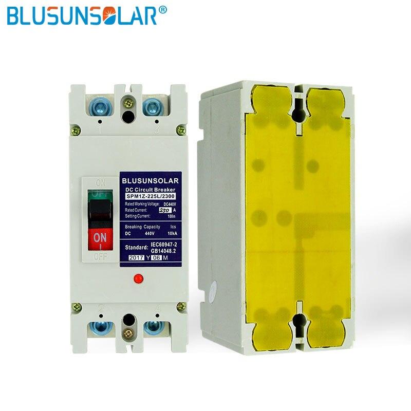 2 pcs/lot 2 P 200A DC440V DC interrupteur d'isolement MCB énergie solaire photovoltaïque PV boîtier moulé disjoncteur TF0182