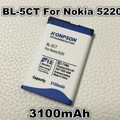 3100 мАч BL-5CT Аккумулятор Для Nokia 5220 6730 5220XM 6303C C3-01 C3-01м C5-00 C5-02 C6-01 C5 6330 6303i BL 5CT BL5CT
