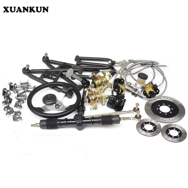 XUANKUN Karting Before The Roll Of The Rocker Arm Of The Steering Wheel Rotating Body Dragged Three Disc Brakes before the incal
