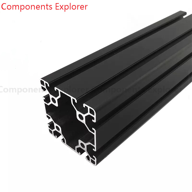 Arbitrary Cutting 1000mm 8080 Black Aluminum Extrusion Profile,Black Color.