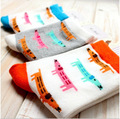 Wholesale Lovely pure cotton Socks for women cute Cartoon A dachshund socks warm casual thermal socks 20pices=10pairs/lot GW-22