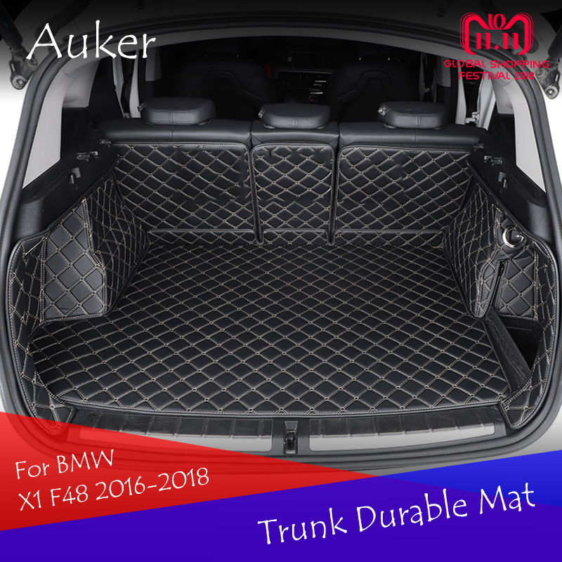 For BMW X1 F48 2016 2017 2018 Durable Trunk Mat Cargo Liner Rear Tail Box Carpets Full Coverage Car Styling