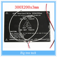 Plus grand! 2015 MK2A 300*200*3.0mm RepRap RAMPES 1.4 PCB PCB Heatbed + LED Résistance + Câble + thermistances pour Imprimante 3D MK2B