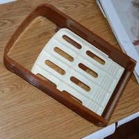 Mejor Práctica cortadora de Pan tostadas cortadora de corte de guía de herramienta de la cocina Color al azar a Brotschneider Pan de corte