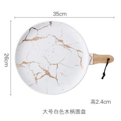 35cm White Plate
