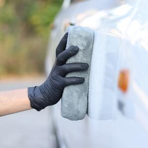 Image 5 - Auto Kit di Pulizia Spugna Pad Asciugamano In Microfibra Wash Mitt Glove Strumenti Pennello Auto Detailing