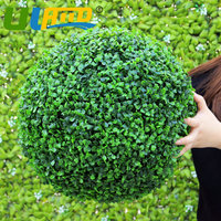 ULAND Fashion Artificial Plant Grass Kissing Ball 38cm Diameter Tree Boxwood Wedding Store Home Outdoor Christmas Decoration