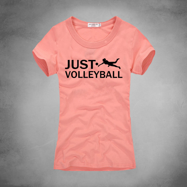 Brand new JUST VOLLEY BALL Women T shirt Printed T shirts for Women Creative  XH24