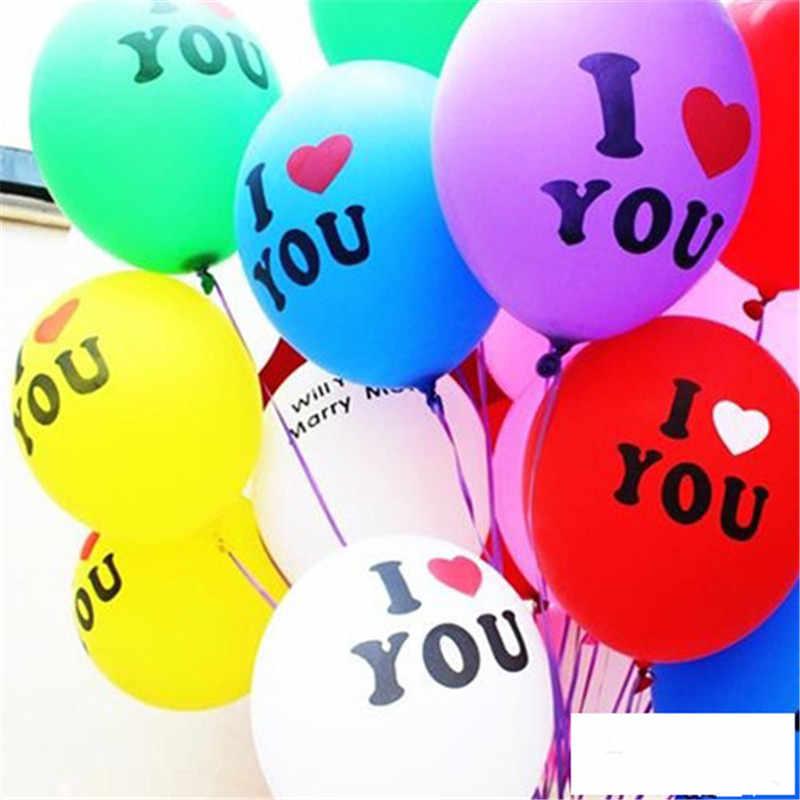 5 шт. 12 дюймов 2,2 г фиолетовый сердце любовь латексные гелиевые шары надувные Свадебный шар детей день рождения украшения воздушный шар