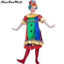 24b4fe903 Arlequim Halloween Adulto Engraçado Palhaço de Circo Vestido com Calças  Impertinente Uniforme Fantasia Vestido Traje Cosplay