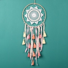 Handmade Fashion Design Dream Catcher Feather Wall Hanging Decor Room Craft Ornament Dreamcatcher Christmas Gift Z
