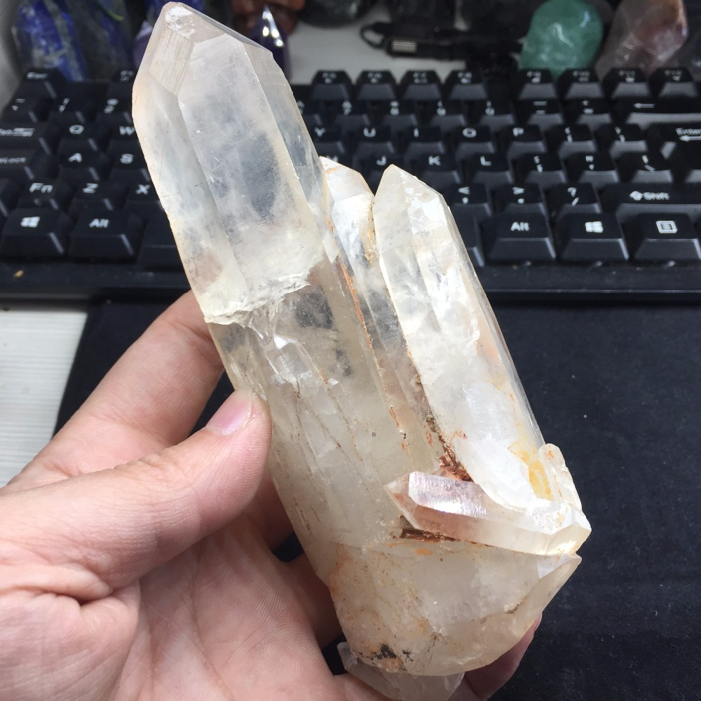 453g Natural Crystal Cluster Specimen Quartz Crystals piedras naturales y minerales Stone Special Ornaments for Home