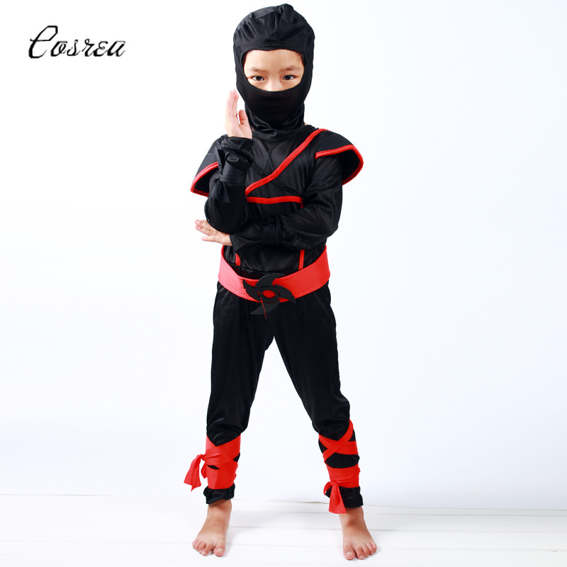 Ninja Warrior Soldier Suit for Boy Clothing Set Face Mask Girl Warrior Costume Gift Toddler Clothes Cosplay Costumes