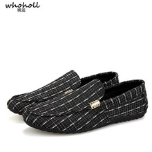 WHOHOLL Brand Fashion Summer Style Soft Moccasins Men Loafers High Quality Genuine Leather Shoes Men Flats Gommino Driving Shoes