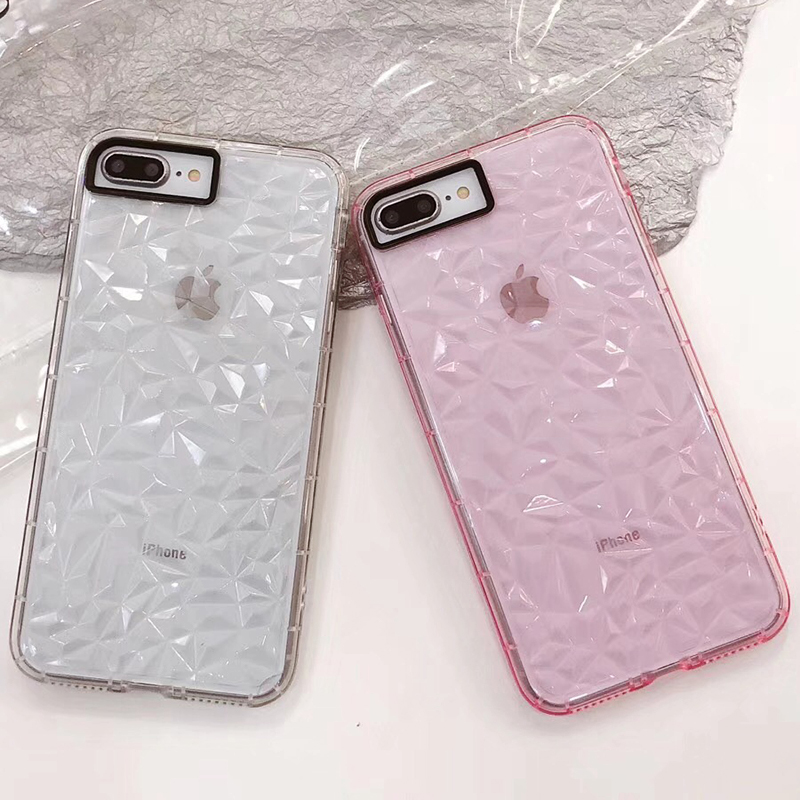3D Diamond Pattern Phone Case For iPhone X Luxury Ultra Thin Soft TPU Cases For iPhone 7 8 6 6s Plus 5 5 S SE Shining Cover Capa (7)