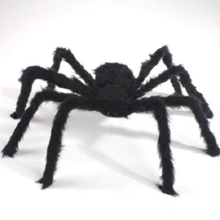 75 cm ila 200 cm süper büyük peluş örümcek tel ve peluş siyah - Tatiller ve Partiler Için - Fotoğraf 2
