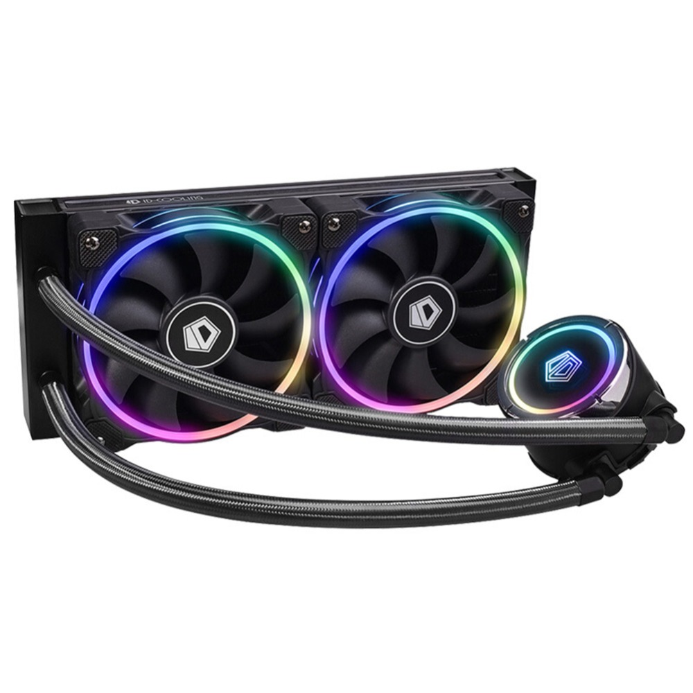 Professional RGB All-In-One CPU Liquid Cooler 2pcs 120mm PMW Cooling Fans Assemble Accessories Shock Absorption Cooling Fan Kits