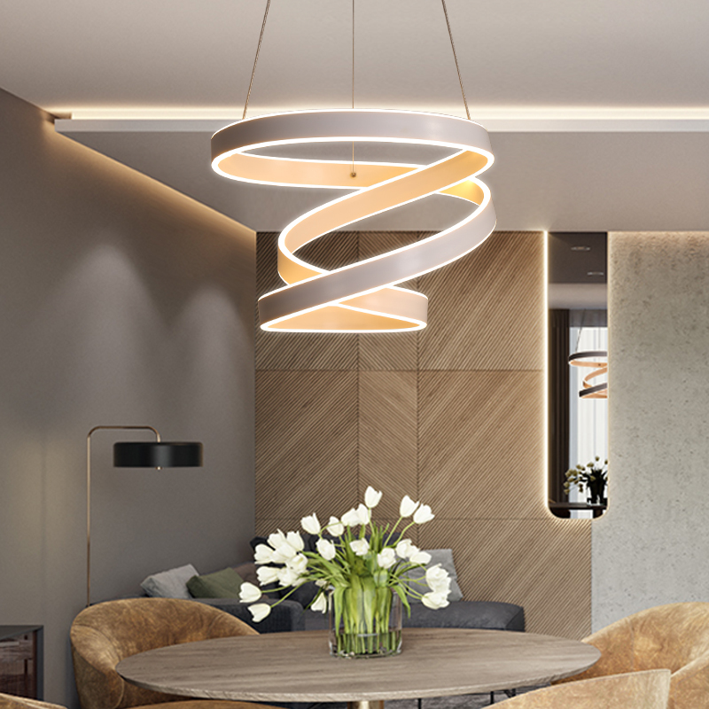 Modern led Chandelier for Kitchen Dining Room Living Room Suspension luminaire Hanging White Bedroom Chandeliers Fixtures