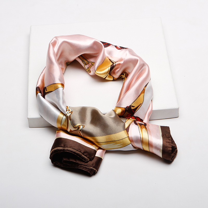 2019 New Artificial Silk Red Coffee 90 90cm Scarf Female Satin Mother 39 s Day Satin Scarf in Women 39 s Scarves from Apparel Accessories