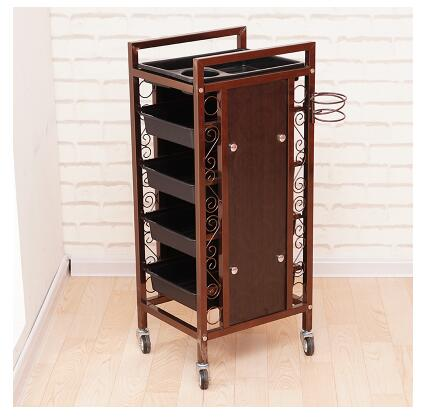Купить с кэшбэком Beauty Salon Cart Hot Dye Cart Hair Salon Five Bars Barber Shop Cart Tool Cabinet.
