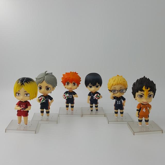 Haikyuu Action Figure Nendoroid Hinata kageyama koushi PVC 10CM Volleyball Figures Anime Haikyuu Collection Model Doll 6pcs/set