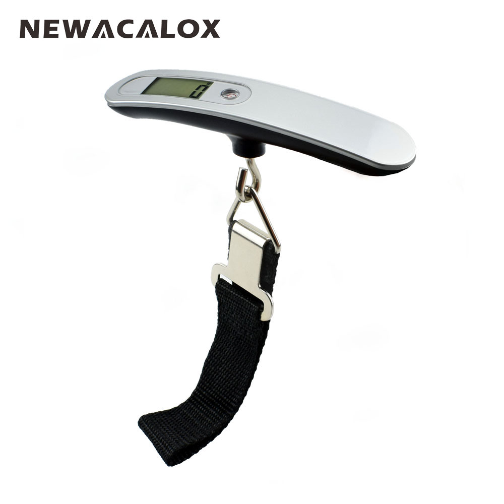 Newacalox 110lb lcd digital travel weight electronic for Mlf fishing scale