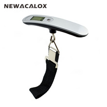NEWACALOX 110lb LCD Digital Travel Weight Electronic Fishing Luggage Scale 50kg Weighing Hanging Scale Hand
