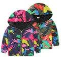 Мальчики Активные Капюшоном Спортивная Куртка Весна Осень 2016 новых детских Верхняя одежда камуфляж куртка ветрозащитный Softshell Пальто