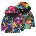 Boys Active Hooded Sports Jacket Spring Autumn 2016 new children's Outdoor clothing camouflage jacket windproof Softshell Coat