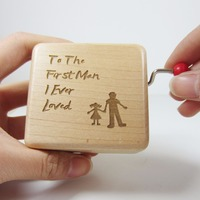 Handmade Wood Wedding Music Box Father Of Bride Gift Personalized Gift Weddings Gift For Dad Gift