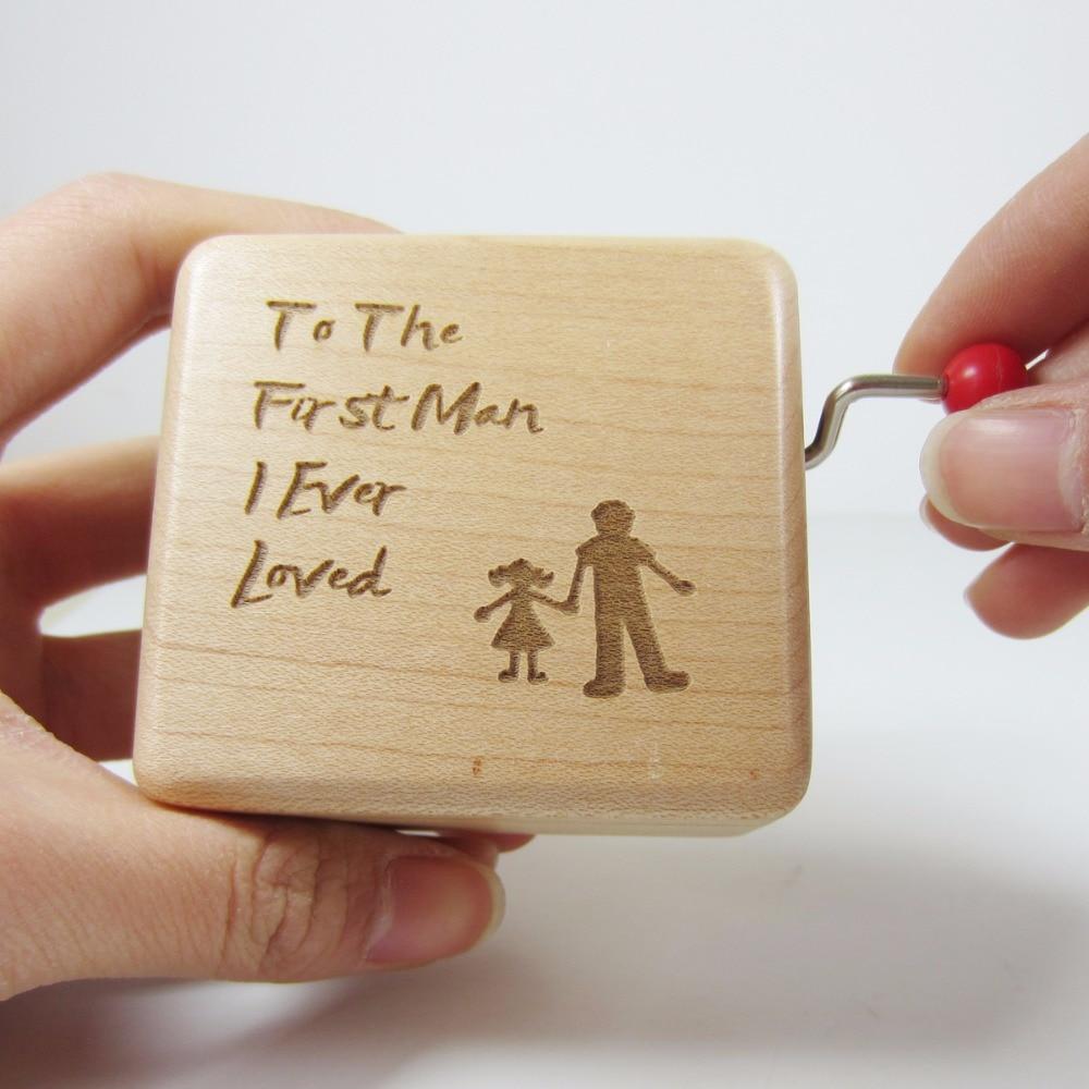 Wedding Music Box Gift: Handmade Smilelife Wood Wedding Music Box, Father Of Bride