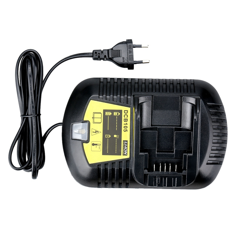 12V Max And <font><b>20V</b></font> Max Li-Ion Battery <font><b>Charger</b></font> 3A For Dewalt 10.8V 12V 14.4V 18V <font><b>20V</b></font> Dcb101 Dcb115 Dcb107 Dcb105 Battery Eu Plug image